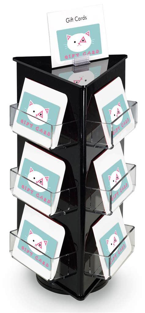 gift card rack revolving gift card holder 9 pockets signage holder