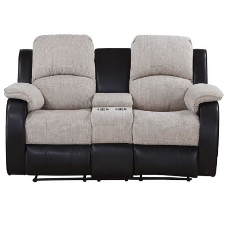 two seater sofa with center console chicago two seater console electric reclining sofa