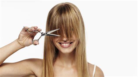 cut   bangs      mind trim bangs