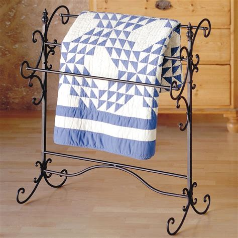 Quilt Holders by Iron Quilt Rack Vintage Wrought Display Stand Hanger
