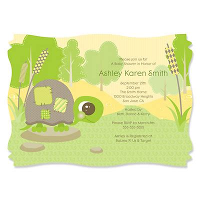 Turtle Baby Shower Invitations by Turtle Baby Shower