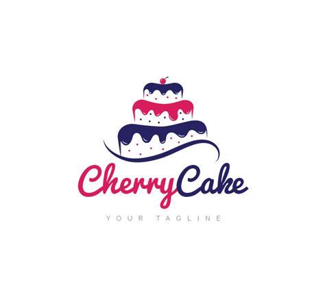 cherry cake logo amp business card template the design love