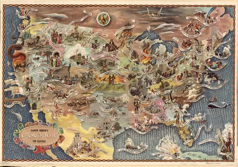 usa map history geography america and its history a map from 1946