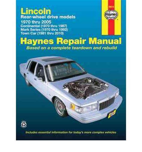 service manual how fix replacement 1987 lincoln town car for a valve gasket service manual lincoln town car automotive repair manual sagin workshop car manuals repair books information