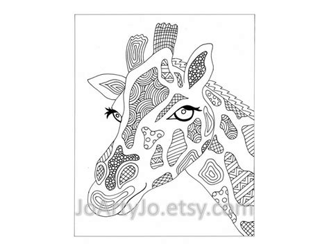 abstract giraffe coloring pages giraffe printable zentangle inspired coloring page zendoodle