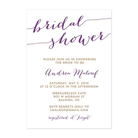 bridal shower invitation template bridal shower