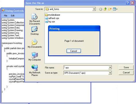 tutorial of asp net with c sharp printing controls in c