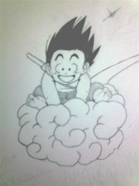 imagenes a lapiz faciles de goku son gok 250 por nahuel dibujando