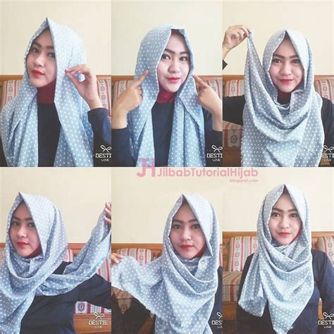 Tutorial Hijab Pashmina Pesta Simple | 6 tutorial style hijab pashmina simple jilbab tutorial hijab