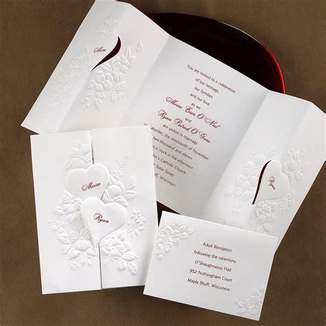 interlocking hearts invitation s bridal bargains - Wedding Invitations With Hearts