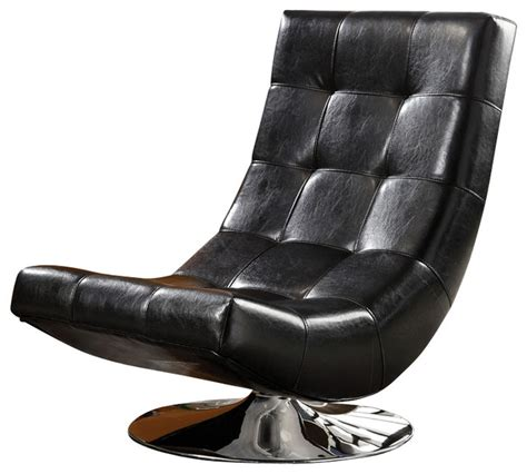 black leather look chrome metal modern accent chair modern mahogany bycast leather chrome metal swivel accent