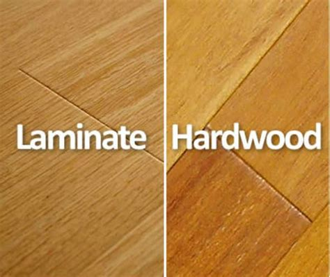 difference between hardwood and laminate interior design