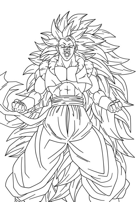 imagenes para colorear de dragon ball z line work