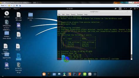kali linux tutorial español youtube kali linux 2 0 wordpress hacking penetration testing using