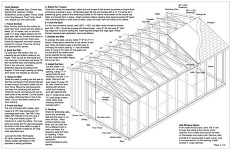feet gable storage shed plans buy