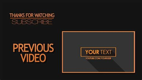 2d outro template simple clean after effects cs6 by