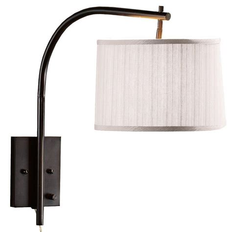 swing arm lights home depot home decorators collection 1 light antique brass swing arm