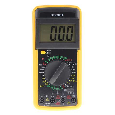 Probe Multitester dt9208a portable digital multimeter ac dc voltage current