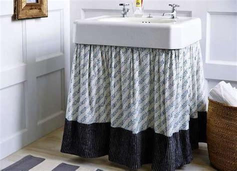 how to make a bathroom sink skirt 17 best ideas about bathroom sink skirt on