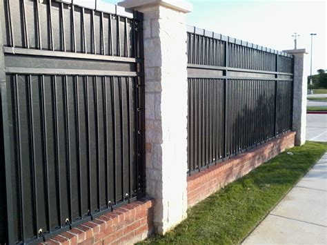 wrought iron fence privacy panels backyard