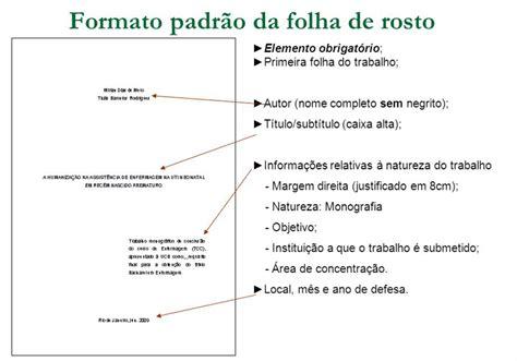 Abnt Tcc Como Requisito Parcial Para Obtenção Do Grau Mba by Folha De Rosto Abnt Normas Abnt