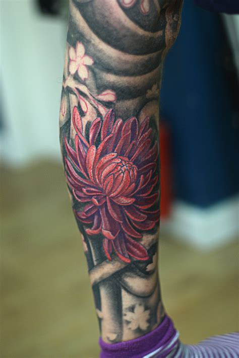 jeffs 50 hour japanese leg piece tattoo