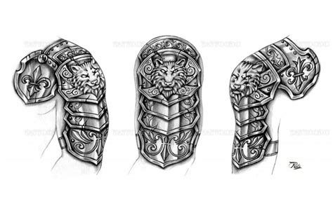 medieval tattoo designs 30 armor tattoos ideas