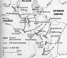 Plan 17 Trenches On The Web Timeline 1905 1914 War Plans