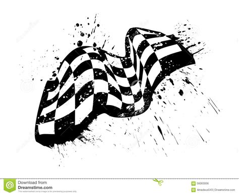 grunge design elements vector free checkered race flag grunge vector design stock vector