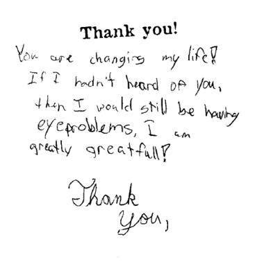 thank you letter to doctor after happy orthokeratology patients at bright