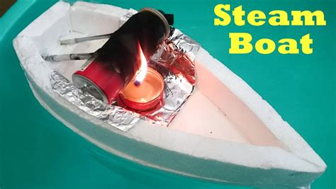 How To Make Paper Motor Boat - how to make a steam boat using bottle at home