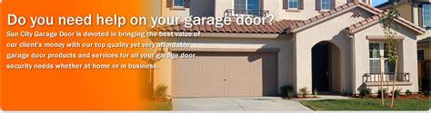 sun city garage doors sun city garage door garage door opener repair in sun