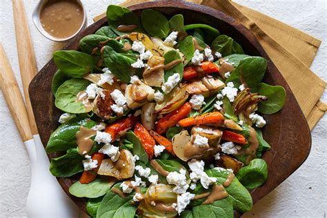 roasted root vegetable salad recipe root vegetable salad with balsamic date dressing