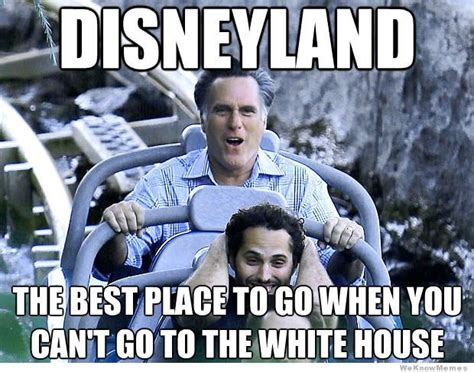 Disneyland Memes - romney goes to disneyland weknowmemes