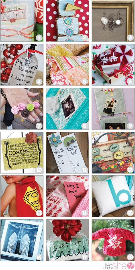 Handmade Gifts Shopping - tons of diy gift ideas