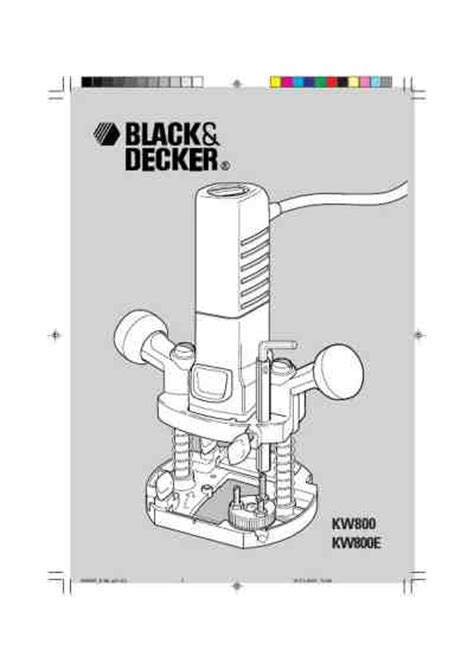 Black Decker Kw 800 Tools Manual For Free Now