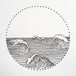 geometric ink drawings