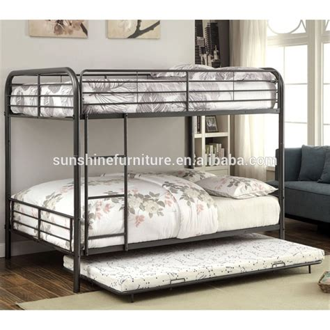 cheap metal bunk beds iron bunk beds with trundle bed furniture decoration