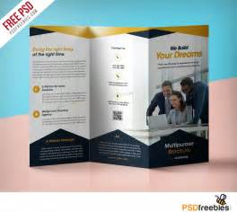 trifold template professional corporate tri fold brochure free psd template