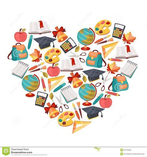 imagenes libres educacion fondo de la escuela con los iconos y los s 237 mbolos de la