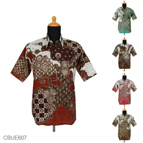 Kalung Etnikabstrak kemeja batik ekslusive motif parang kawung abstrak kemeja lengan pendek murah batikunik