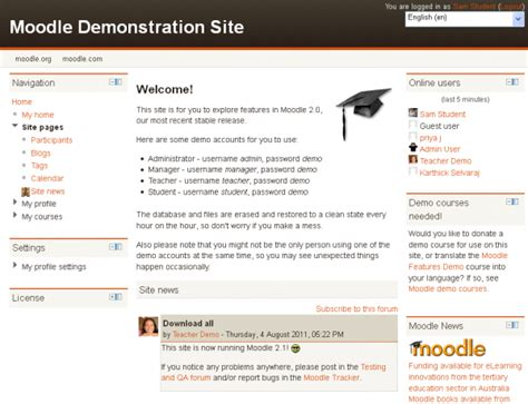 moodle theme login page front page moodledocs