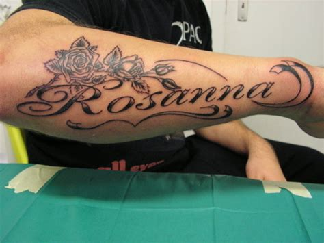 name tattoos on forearm arm name ideas