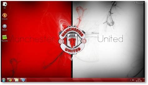 themes for windows 7 manchester united manchester united fc windows 7 theme