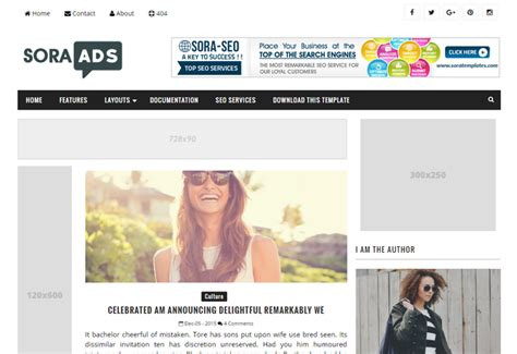 blogger templates for advertising sora ads btemplates