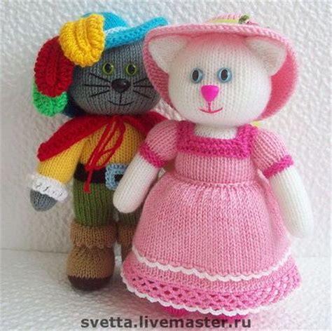 quot glamurrrnaya kitty quot knitted toy by svetlana zabelina