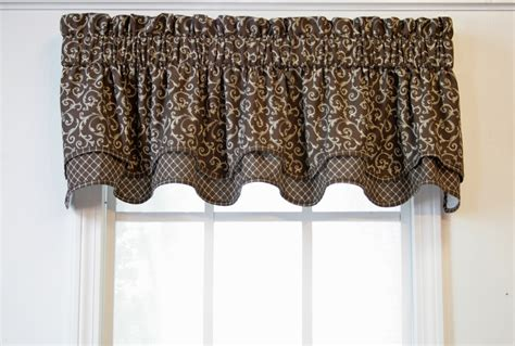 Brown Swag Valance Brown Valance Curtains Delectably Yours Pair Of Laredo