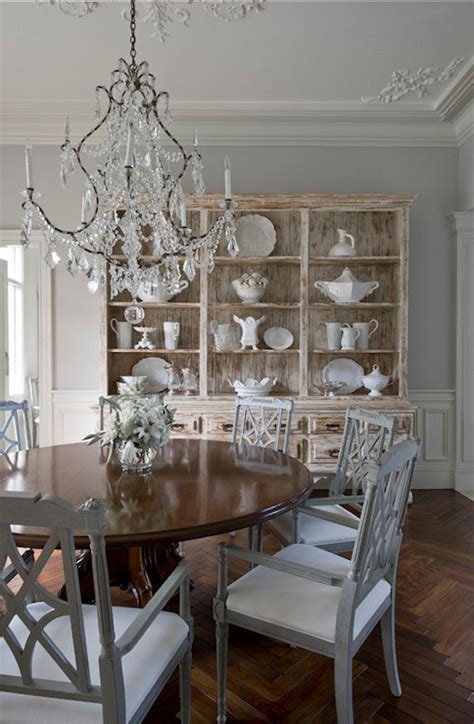 Distressed Hutch Cabinet   French   dining room   Yawn Design Studio