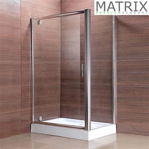 Matrix Premium Economy Pivot Door Shower Enclosure Matrix Shower Doors