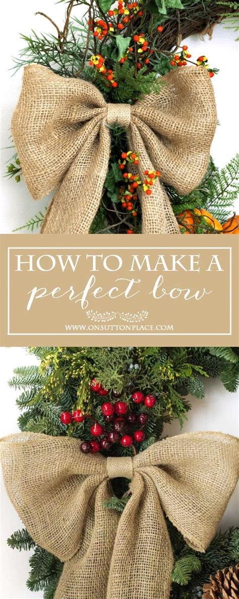 how to make the perfect christmas bow how to make a burlap bow easy tutorial to make a bow every time use for